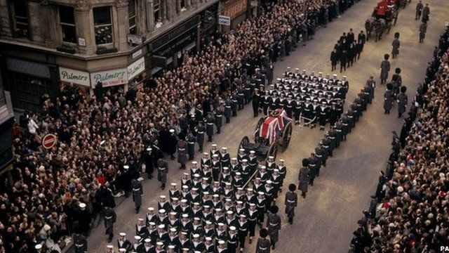 January 24, 1965 – Dies at age 90. By decree of the Queen receives a State Funeral the last to take place in Great Britain